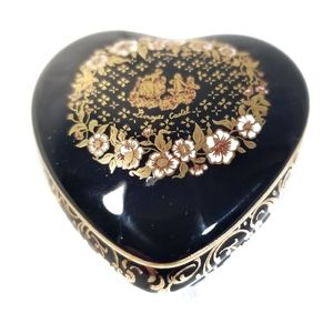 Limoges castel france blue & gold heart